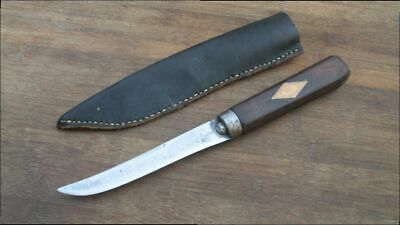 FINE Antique NORVELL-SHAPLEIGH Butcher Skinning/Trade Knife RAZOR SHARP w/Sheath