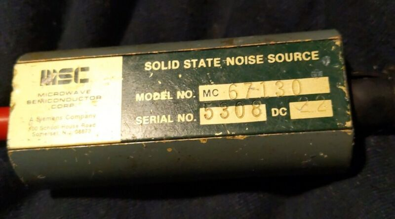 MSC Solid State Noise Source model 67130