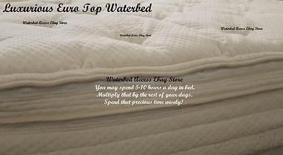 Euro Top Mattress - KING Softside Waterbed with Euro Top Water Mattress Dual Heaters & Bladders