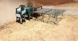 FREE glass table coffee tables and working bbq Dianella Stirling Area Preview