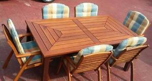 Stunning OUTDOOR SETTING - Large TABLE & 6x TEAK CHAIRS Coombabah Gold Coast North Preview