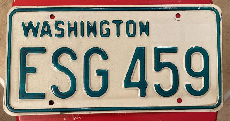 1968-1982 Washington State Passenger Vehicle License Plate Single. YOM Legal