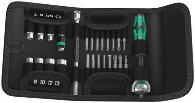 "Wera Tools 05051045001 Kraftform Compact Zyklop 1/4"" Dr Ratchet Driver Bit Set"