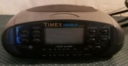 Timex Indiglo T433B Dual Alarm Clock Radio Good Working Condition