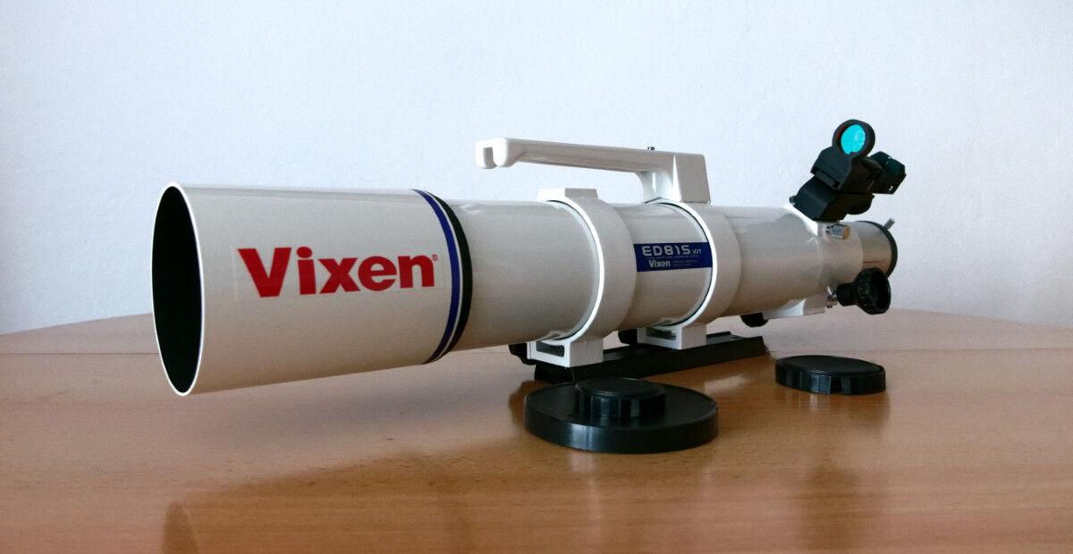 Vixen ED81SWT APO - OTA mit Rohrschellen, Montageschiene Peilsucher