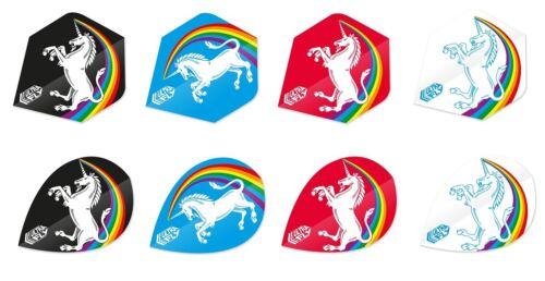 Unicorn Ultrafly Rainbow Standard Pear 100 Micron Thick Dart Flights