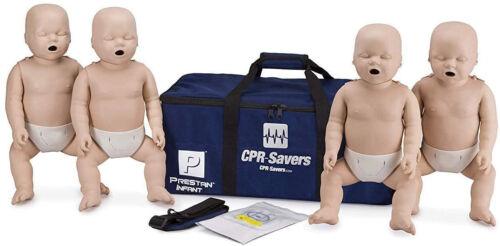 CPR Savers Prestan Infant CPR Training Manikin, Medium Skin, 4-Pack