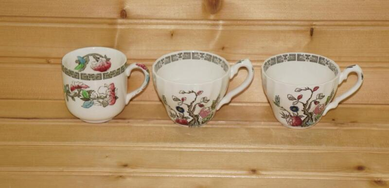 Myott INDIAN TREE (3) Small Demitasse Cups   England VTG Discontinued