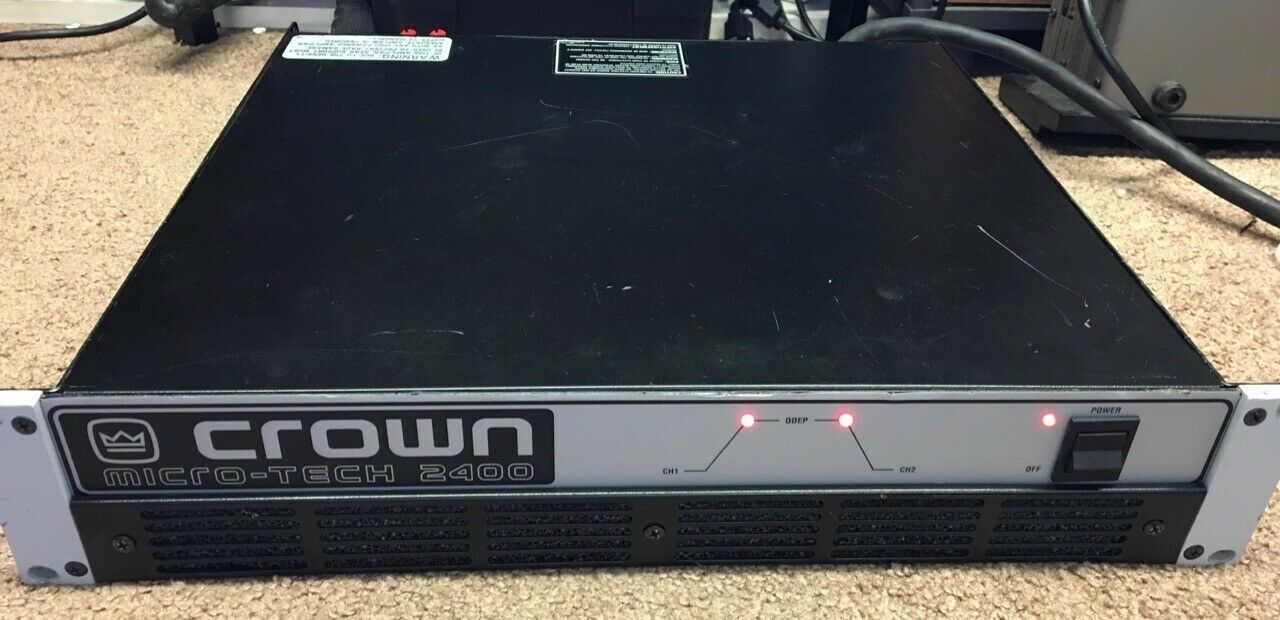 Crown Micro-Tech 2400 Power Amplifier 1670W At 4ohm Bridge-mono 347 - $599.00