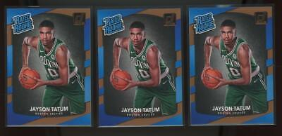 2017 Panini Donruss #198 Jayson Tatum RC Rookie Lot Of 3