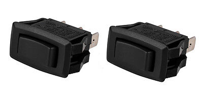 2 Pack Servalite Spdt Snap-in Rocker Switch Center Off 125250 Vac 069-152