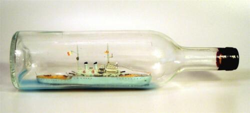 World War II Ship in a Bottle