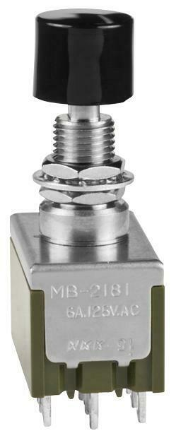 NKK SWITCHES-MB2181SS1W01-CA-SWITCH£¬PUSHBUTTON£¬NON-ILLUMINATED£¬4PDT£¬6A£¬125V