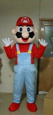 RENT Super Mario Adult Mascot Costume Character Halloween Party Birthdays Events
