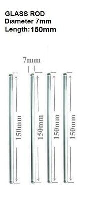 Glass Stirring Rods 6 7mm Diameter For Lab Kitchen Science Education 4pack