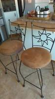 2 Bar stools / Kitchen counter stools