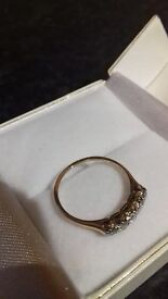18 carat Gold 5 Stone Diamond Eternity Ring
