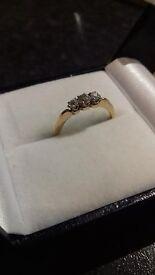 18 Carat Gold & Diamond 3 Stone Diamond Ring - Valentine's?