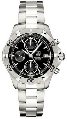 TAG HEUER AQUARACER CAF2110.BA0809 AUTOMATIC CHRONOGRAPH BLACK STEEL MENS WATCH