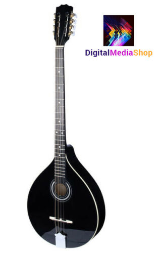 Black Irish Bouzouki with EQ, Solid Wood, Made by Hora, ROMANIA