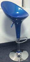 921 ABS PLASTIC BAR STOOLS-BLACK, BLUE, WHITE, RED, SILVER COLOR