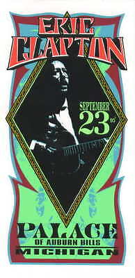 1995 Eric Clapton - Concert Handbill Arminski poster