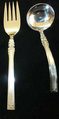 2 Piece Lot Oxford Hall Stainless Steel Flatware Serving Set Japan