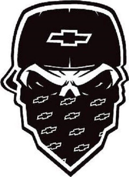 Chevy Silverado Skull Truck And Car Decal Sticker EBay - Chevy silverado sticker