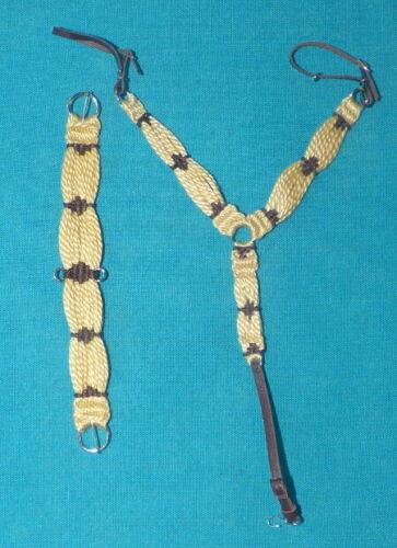 Unicorn Woman Western Breast Collar/Girth Set Flaxon/BR  1/9 Scale Breyer Stone