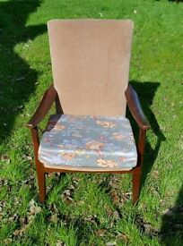 Parker knoll style easy chair Danish style legs