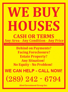 Get CASH For Your House!