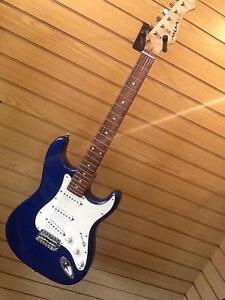 Aria Pro Metalic Blue Strat Guitar / Great Sounding Fender Amp