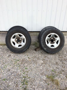 Set of 4 tires and rims
