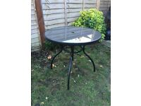 Metal Glass Garden Terase Table