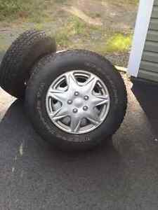 FOR SALE 4 NEW TIRES AND RIMS TO FIT FORD F150 6 HOLES