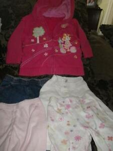 5 piece 6-9 month girl lot. Gorgeous sweater jacket and 4 pants