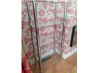 Glass shelf unit