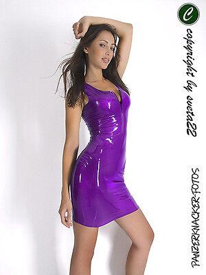 Latex KLEID - Minikleid in LILA - einfach TOLL - versch. Größen zur - Einfache Kostüm Für Damen