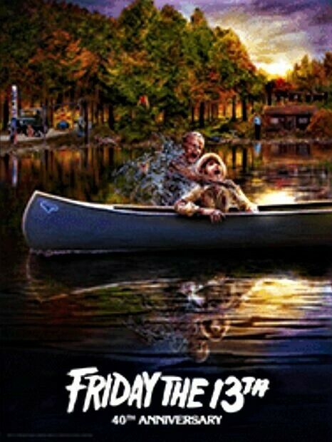 Friday the 13th Sold Out Poster 40th Anniversary Scream Factory - Preorder