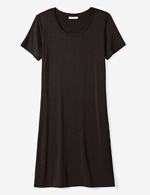 *NEW* Daily Ritual Women's Jersey Short-Sleeve Scoop Neck T-Shirt Dress M AD1404 Jersey T-shirt Dress
