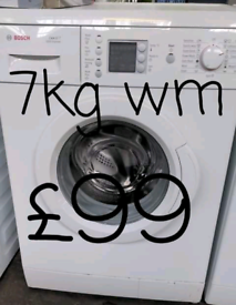 Bosch 7kg washing machine free delivery in Leicester