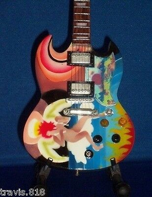 Mini Guitar UTOPIA TODD RUNDGREN GIFT Memorabilia FREE STAND Psychedelic Fool