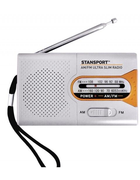 Emergency Radio AM/FM Ultra Slim Compact Light Weight Great