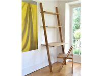 Leaning Oak Ladder Desk by Futon Company