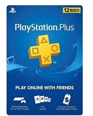 Sony PlayStation PS Plus 1 Year Membership Subscription Card (USA/Canada)