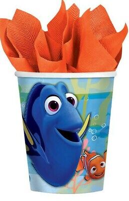 Finding Dory and Nemo Cups x 8 Paper Birthday Party Decorations Supplies