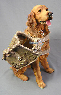 HUND FIGUR COCKER SPANIEL GOLDEN RETRIEVER WEIN HUNDE IRISH SETTER DEKORATION