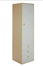 Single wardrobe with 3 drawers £65. Real Bargains Clearance Outlet Lei