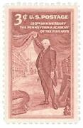 3 Cent US Postage Stamp
