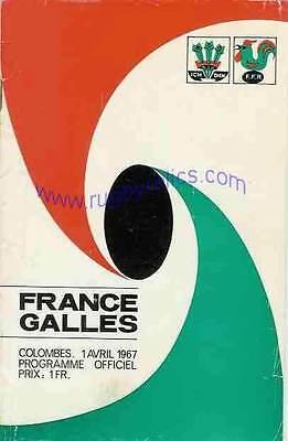 FRANCE v WALES 1 Apr 1967 RUGBY PROGRAMME at PARIS